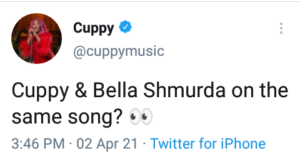 DJ Cuppy to feature Bella Shmurda